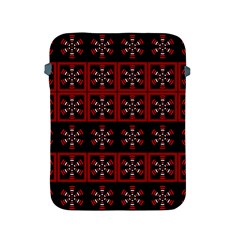 Dark Tiled Pattern Apple Ipad 2/3/4 Protective Soft Cases by linceazul