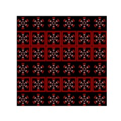 Dark Tiled Pattern Small Satin Scarf (square)  by linceazul