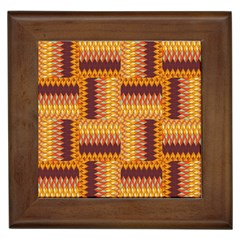 Geometric Pattern Framed Tiles by linceazul