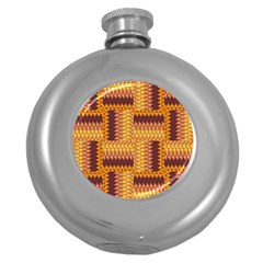 Geometric Pattern Round Hip Flask (5 Oz) by linceazul
