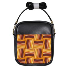 Geometric Pattern Girls Sling Bags by linceazul