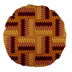 Geometric Pattern Large 18  Premium Round Cushions by linceazul