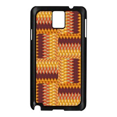 Geometric Pattern Samsung Galaxy Note 3 N9005 Case (black) by linceazul