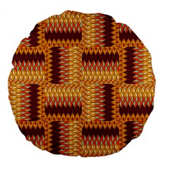 Geometric Pattern Large 18  Premium Flano Round Cushions by linceazul