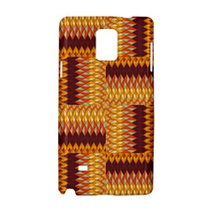 Geometric Pattern Samsung Galaxy Note 4 Hardshell Case by linceazul