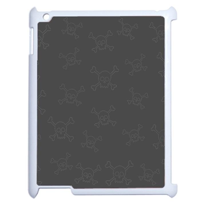 Skull pattern Apple iPad 2 Case (White)