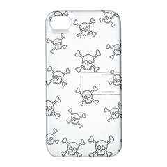 Skull Pattern Apple Iphone 4/4s Hardshell Case With Stand by ValentinaDesign