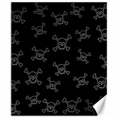 Skull Pattern Canvas 8  X 10  by ValentinaDesign