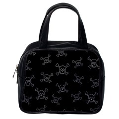 Skull Pattern Classic Handbags (one Side) by ValentinaDesign