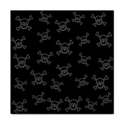 Skull Pattern Face Towel