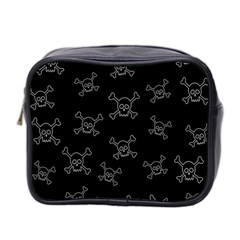 Skull Pattern Mini Toiletries Bag 2 Side by ValentinaDesign