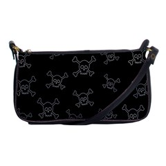 Skull Pattern Shoulder Clutch Bags by ValentinaDesign