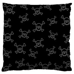 Skull Pattern Large Cushion Case (one Side) by ValentinaDesign