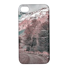 Gravel Empty Road Parque Nacional Los Glaciares Patagonia Argentina Apple Iphone 4/4s Hardshell Case With Stand by dflcprints