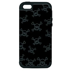 Skull Pattern Apple Iphone 5 Hardshell Case (pc+silicone) by ValentinaDesign