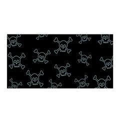Skull Pattern Satin Wrap by ValentinaDesign