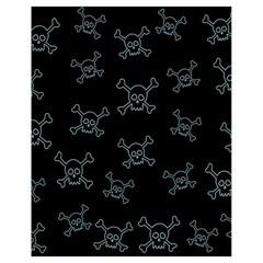 Skull Pattern Drawstring Bag (small) by ValentinaDesign