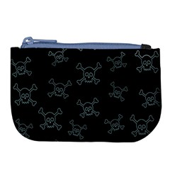 Skull Pattern Large Coin Purse by ValentinaDesign