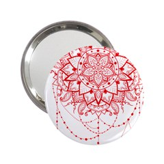 Mandala Pretty Design Pattern 2 25  Handbag Mirrors