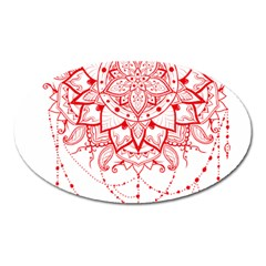 Mandala Pretty Design Pattern Oval Magnet by Nexatart