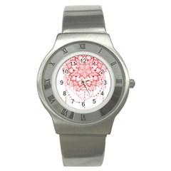 Mandala Pretty Design Pattern Stainless Steel Watch