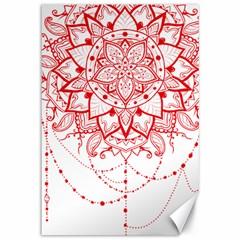 Mandala Pretty Design Pattern Canvas 12  X 18