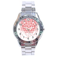 Mandala Pretty Design Pattern Stainless Steel Analogue Watch