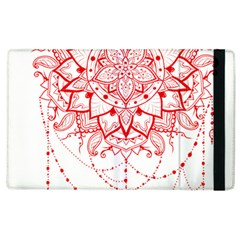 Mandala Pretty Design Pattern Apple Ipad 3/4 Flip Case by Nexatart