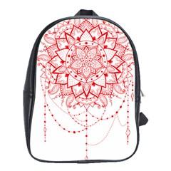 Mandala Pretty Design Pattern School Bags (xl)  by Nexatart