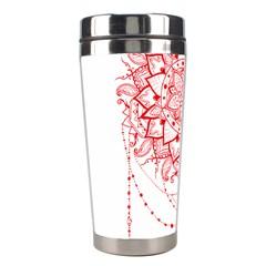 Mandala Pretty Design Pattern Stainless Steel Travel Tumblers by Nexatart
