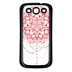 Mandala Pretty Design Pattern Samsung Galaxy S3 Back Case (black)
