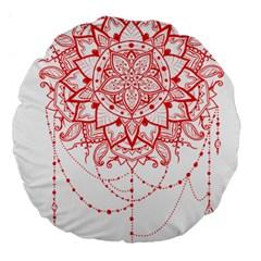 Mandala Pretty Design Pattern Large 18  Premium Flano Round Cushions