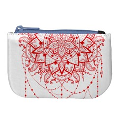 Mandala Pretty Design Pattern Large Coin Purse by Nexatart