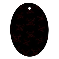 Skull Pattern Ornament (oval) by ValentinaDesign