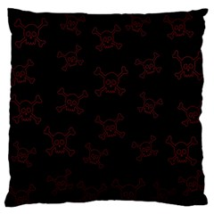Skull Pattern Large Flano Cushion Case (one Side) by ValentinaDesign