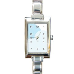 Cloud Sky Blue Decorative Symbol Rectangle Italian Charm Watch by Nexatart