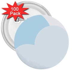 Cloud Sky Blue Decorative Symbol 3  Buttons (100 Pack)  by Nexatart