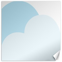 Cloud Sky Blue Decorative Symbol Canvas 16  X 16   by Nexatart
