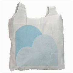 Cloud Sky Blue Decorative Symbol Recycle Bag (one Side) by Nexatart