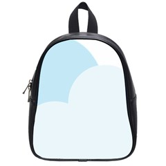 Cloud Sky Blue Decorative Symbol School Bags (small)  by Nexatart