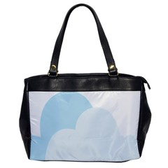 Cloud Sky Blue Decorative Symbol Office Handbags by Nexatart