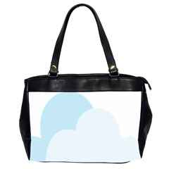 Cloud Sky Blue Decorative Symbol Office Handbags (2 Sides)  by Nexatart