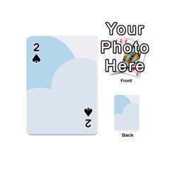 Cloud Sky Blue Decorative Symbol Playing Cards 54 (mini)  by Nexatart