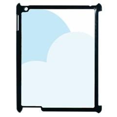 Cloud Sky Blue Decorative Symbol Apple Ipad 2 Case (black) by Nexatart