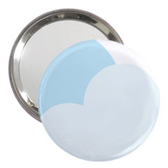 Cloud Sky Blue Decorative Symbol 3  Handbag Mirrors