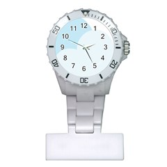 Cloud Sky Blue Decorative Symbol Plastic Nurses Watch by Nexatart