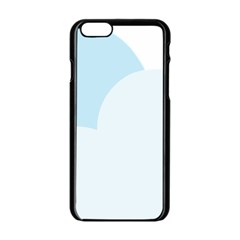 Cloud Sky Blue Decorative Symbol Apple Iphone 6/6s Black Enamel Case