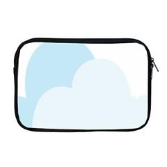 Cloud Sky Blue Decorative Symbol Apple Macbook Pro 17  Zipper Case by Nexatart