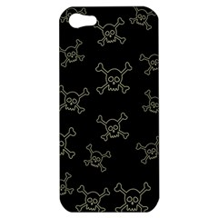 Skull Pattern Apple Iphone 5 Hardshell Case by ValentinaDesign