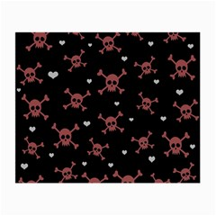 Skull Pattern Small Glasses Cloth by ValentinaDesign